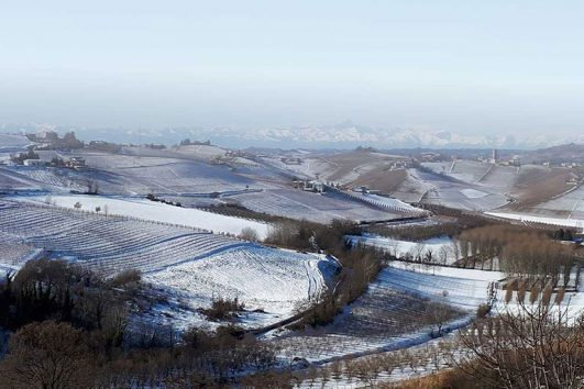 Langhe con neve